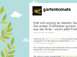 Gartentomate bei Twitter